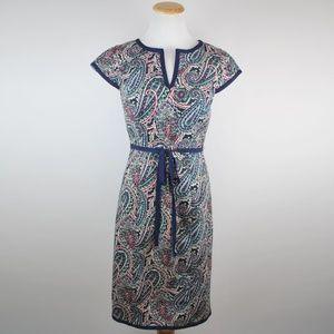 Talbots Paisley Sheath Dress Size 2 NWT